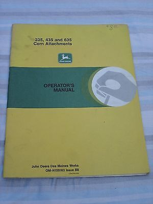 John Deere 335, 435 and 635 Corn Attachments Operator's Manual OM-N159163