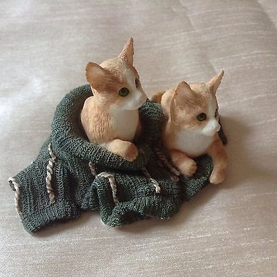 Pair Of Ginger Cats In A Jumper Ornament