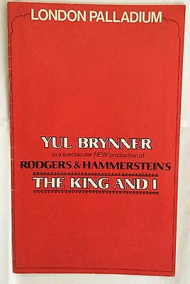 YUL BRYNNER. in the King and I. At the London Palladium. Programme.