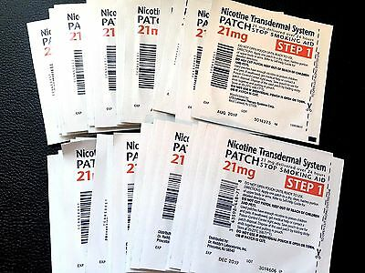 **LOT of 50** Nicotine Patches, 21mg, Exp March 2018 and later!!