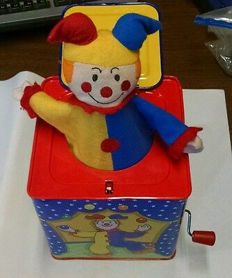"""Classic Toy Schylling 1997 Jack In The Box Plays """" Pop Goes The Weasel"""" (JL)"""