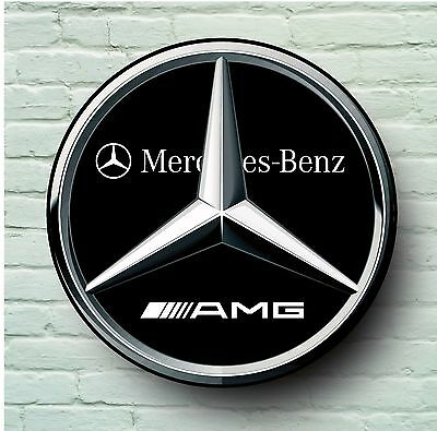 Mercedes Amg Logo 2Ft Large Garage Sign Wall Plaque Classic Sport Car Xj Xr
