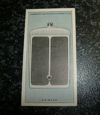 Lambert & Butler Motor Car Radiators No9 - Daimler