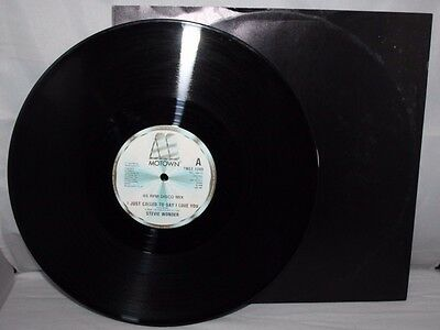 "12"" Single - Stevie Wonder - I Just Called To Say I Love You - Motown - 1984"