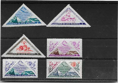 San Marino 1952 air stamp day and philatelic exhibition set to 200L mint