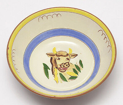 STANGL Kiddieware Boy Blue Bowl FREE SHIPPING cereal bowl COW