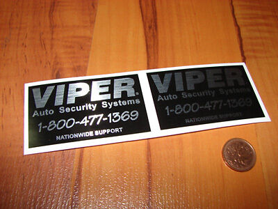 Viper Car Alarm Security stickers OEM, decals, car, security, Vehicle