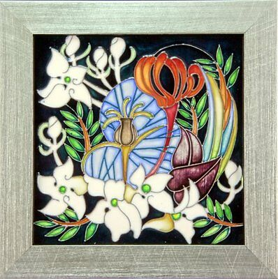 Moorcroft Liberty Silver Garden Plaque, L/ed 15/30, Immaculate Best Quality.