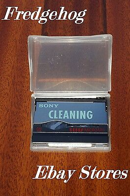 Rare Sony Micro Mv Camcorder Dry Type Head Cleaning Tape / Cassette - Mgr-Cld