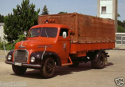 German Postcard Ford FK 4000 Covered Fire Truck 1954