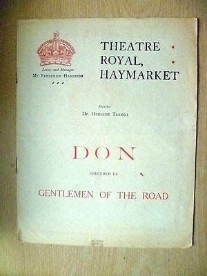1909 Theatre Royal Programme- DON & GENTLEMEN OF THE ROAD