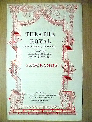 Theatre Royal Programme 1945- THE TRAGEDY OF HAMLET by W Shakespeare