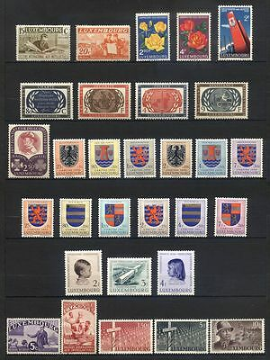 LUXEMBOURG - Lot de timbres neufs** / * anciens