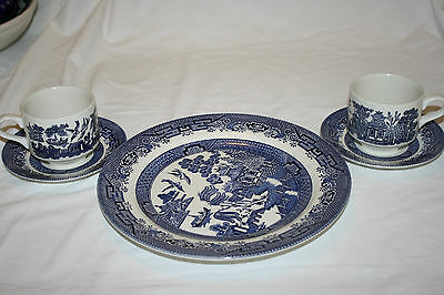 """Churchill England """" Blue Willow"""" (5) Pieces"""