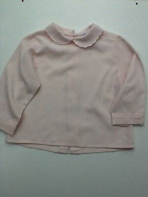 Baby Graziella Made in Italy Girls Pink Collared Blouse. Age 16 mths. VGC