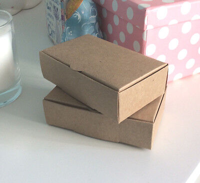 45 x Kraft Recycled Brown / Vintage Single Slice Wedding - Favour Boxes FREEPOST