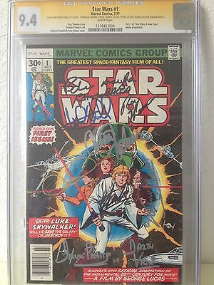 Star Wars #1 CGC SS 9.4 Signed by eight (8) cast members
