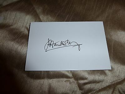 John Hawksby Leeds United hand signed card