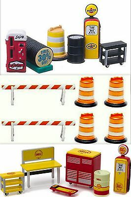 Garage Shop/gas Station Accessory Packs By Greenlight 1:64 Scale Mip!