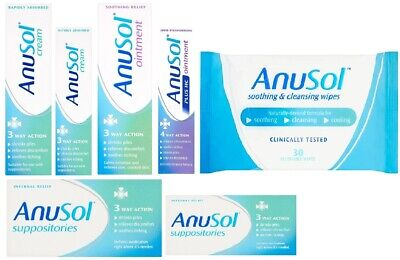 Anusol Haemorrhoid Relife Discomfort Soothes Cream Itching 23g 43g Shrinks Piles