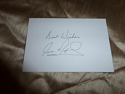 Derek Mayers Leeds United hand signed white card