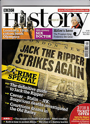 BBC HISTORY Magazine May 2008 - JACK THE RIPPER Cover