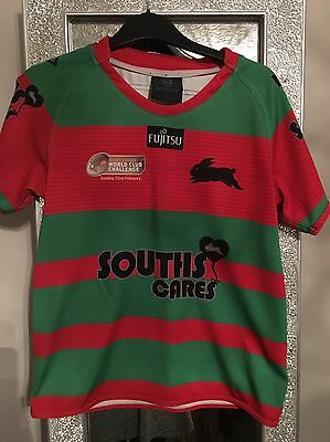 South Sydney Rabbitohs NRL RUGBY JERSEY SIZE 14 Years