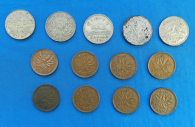 Lot of Vintage Canada 1 & 5 Cent Coins *1930-1956*