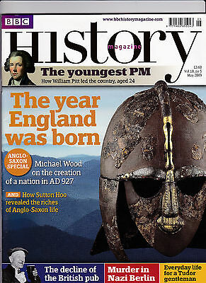 BBC HISTORY Magazine May 2009 - THE YEAR ENGLAND WAS BORN AD 927 Cover