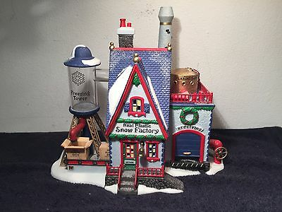 Department 56 North Pole Series Real Plastic Snow Factory W/ Box & Electric Cord