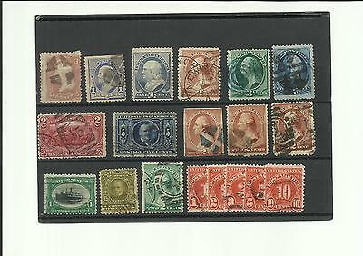 Small collection of very early, good quality stamps from USA, used