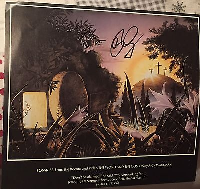 RICK WAKEMAN SIGNED RODNEY MATTHEWS Art Print   YES & GRUMPY OLD MEN