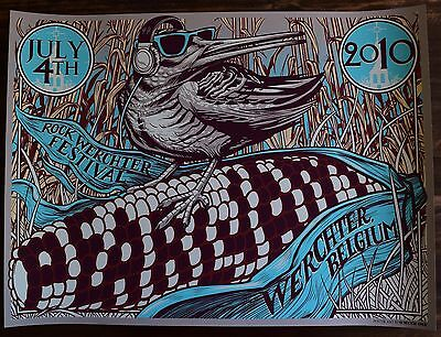 Pearl Jam * Munk One * 07/04/10 Werchter Belgium Poster * Mint * Show Edition