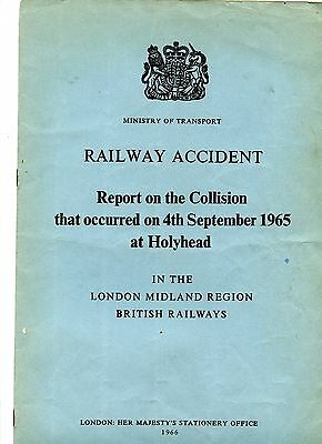 Railway accident Report - Holyhead collision 1965 BR (LMR)