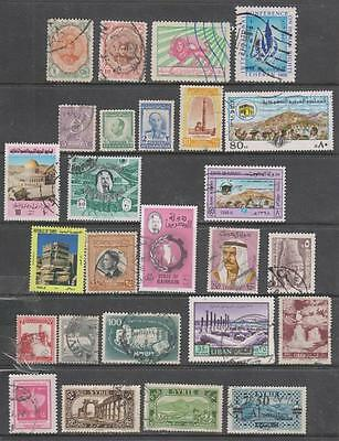 MIDDLE EAST - 26 x Mainly Used Stamps - Early/Modern