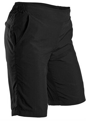 New Sugoi Women Neo Lined Cycling Shorts Bike Pants w. Padded Liner MEDIUM Black