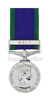 Full Size Ready To Wear General Service Medal GSM Elizabeth II with Gulf Clasp