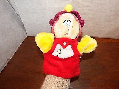 Disney Beauty and the Beast Cogsworth hand puppet soft plush figure toy clock
