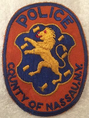 COUNTY OF NASSAU POLICE New York NY Co PD Lion Used Worn patch