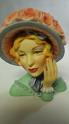Beautiful Cameo Girl Vase Angeline 1847 - Blue Bonnet Beauty 2000 EDITION