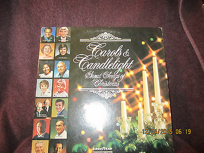 Vintage Vinyl 1974 LP Record CAROLS & CANDLELIGHT CHRISTMAS goodyear columbia