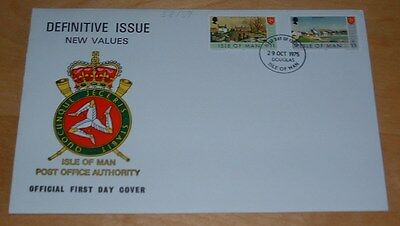 Isle Of Man First Day Cover 1975 Definitive Issue - Island Scenes - 11 And 13 P