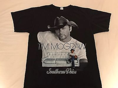 2010 Tim McGraw Southern Voice Concert Tour T-Shirt Country Large