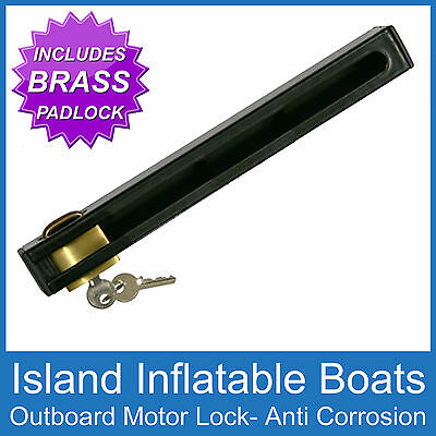 Outboard Boat Motor Lock Heavy Duty  & Brass Padlock Suits Up To 50Hp Free Post