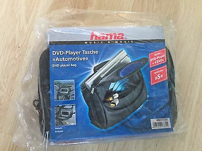 Hama Dvd Player Case Storage Bag For Car - Fits A Portable Dvd Player & 4 Dvds