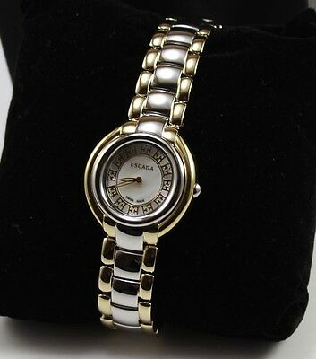 63a2c32c0c73 NEW AUTHENTIC ESCADA Silver Gold Ivory Ladies Women's E2435024 Watch ...