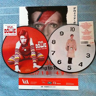 """David Bowie Is V&a Exhibition: Lady Stardust Crystal Japan Picture Disc 7"""" Vinyl"""