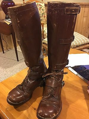 3 buckle Cavalry boots, contract made with M1911 spurs