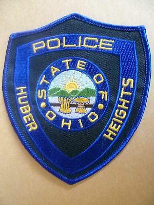 Patches: HUBER HEIGHTS STATE OF OHIO USA POLICE PATCH (NEW* apx. 12x10 cm)