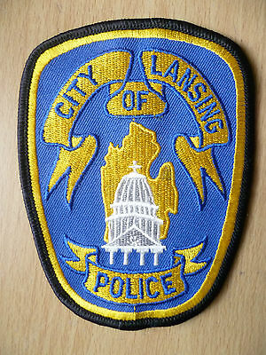 Patches: CITY OF LANSING POLICE PATCH (NEW,apx.4.8x4 inch)